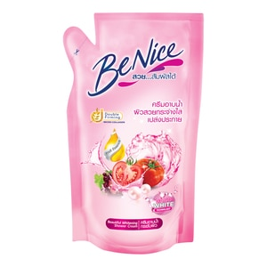 Benice Shower Cream 400 Ml Refill Light Pink-268017.jpg