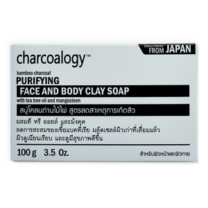 Charcoalogy Bamboo Charcoal Purifying Face and Body Clay Soap 100g-277906.jpg