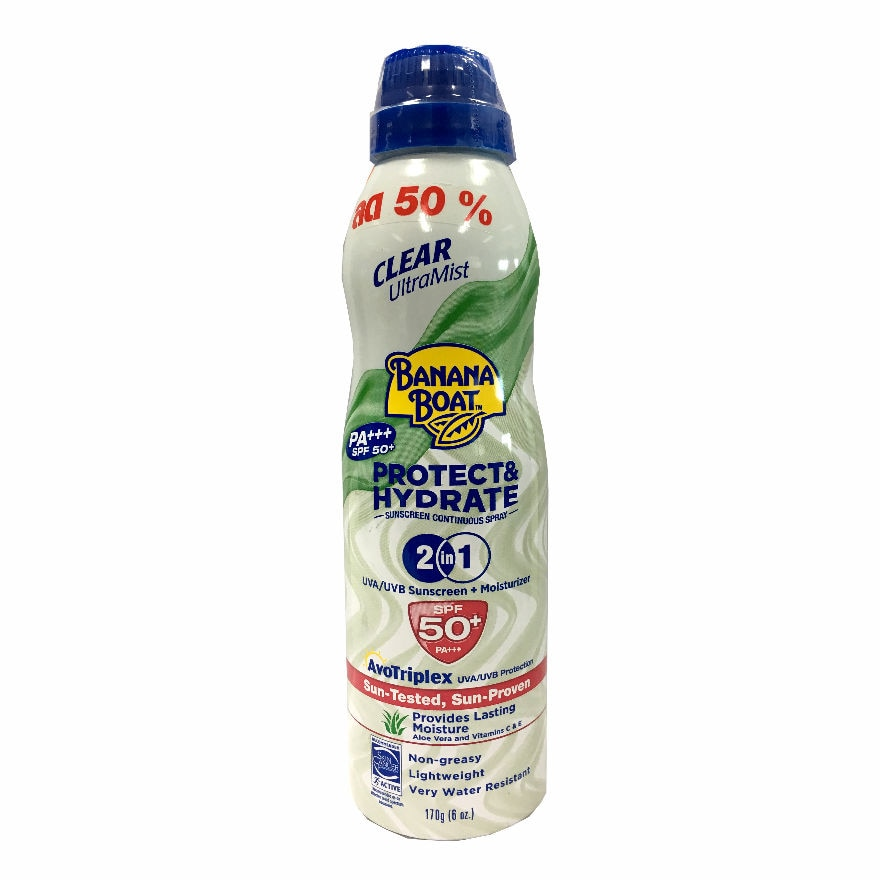 Banana Boat Clear Ultra Mist Spray Protect  Hydrate 2in1 SPF50 PA 170 G 50 Pct-267599.jpg